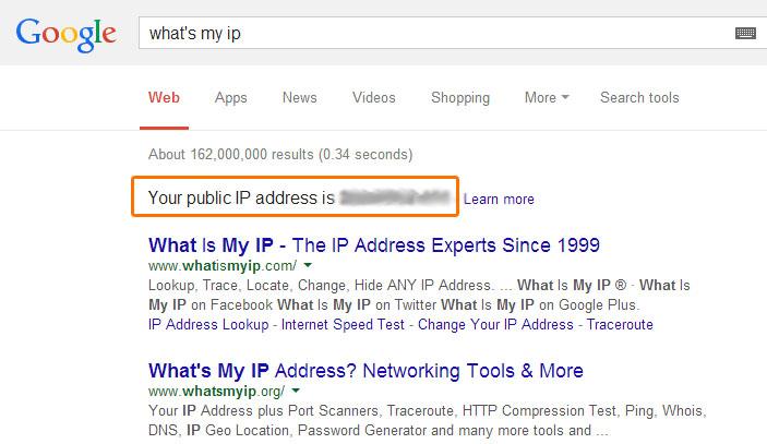 구글 검색에서 내 IP 주소 확인하게